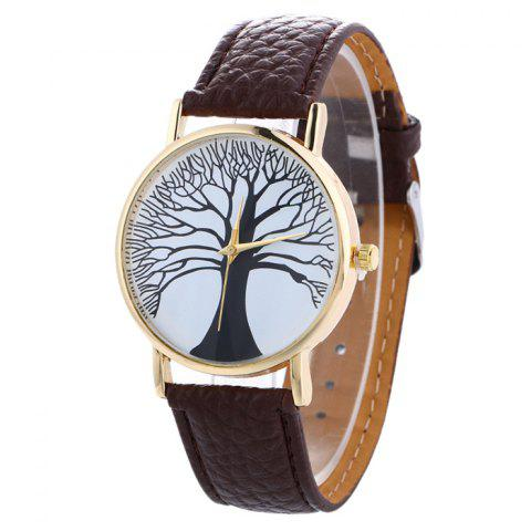 Shops Faux Leather Tree Of Life Analog Watch