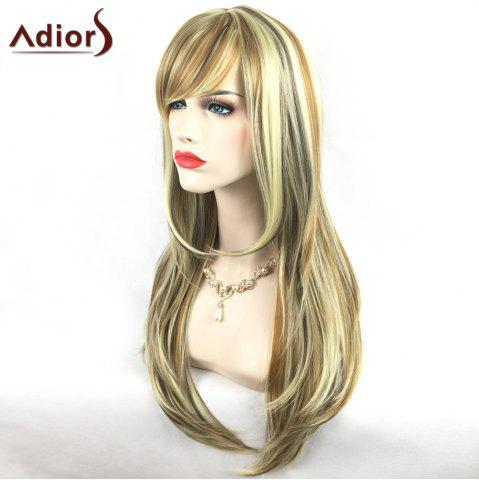 Shops Adiors Long Slightly Curly Side Bang Party Synthetic Wig - COLORMIX  Mobile