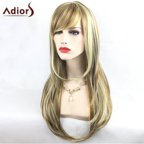 Fashion Adiors Long Slightly Curly Side Bang Party Synthetic Wig - COLORMIX  Mobile