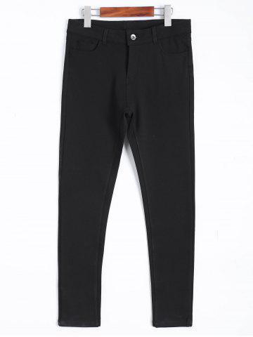 Store Skinny Ankle Length Plus Size Pants BLACK 4XL