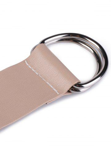 Online Outside Wear Adjustable PU Leather Belt - NUDE  Mobile