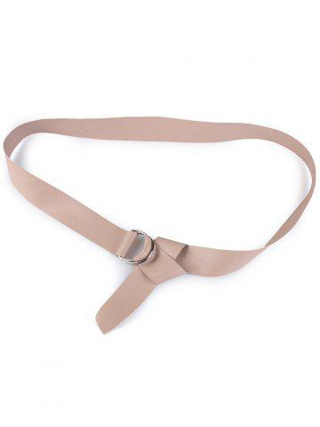 Shop Outside Wear Adjustable PU Leather Belt - NUDE  Mobile