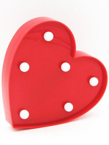 Best Love Heart Shaped Confession Gift LED Night Light - RED  Mobile