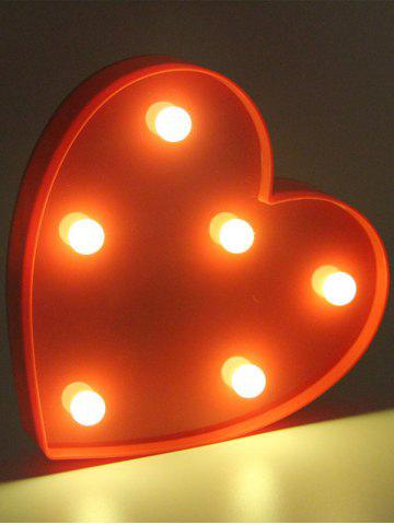 Fancy Love Heart Shaped Confession Gift LED Night Light - RED  Mobile