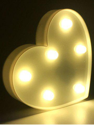 Love Heart Shaped Confession Gift LED Night Light - White