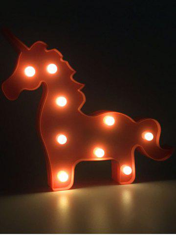 Unicorn Shaped Room Atmosphere LED Night Light - Red