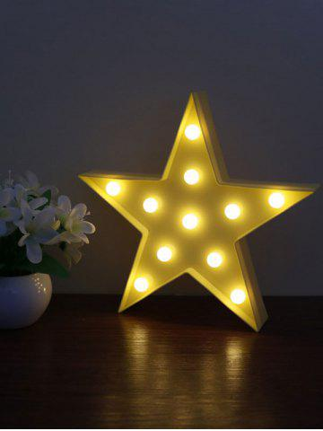 Affordable Cartoon Star Shape Home Decorative LED Night Light - YELLOW  Mobile