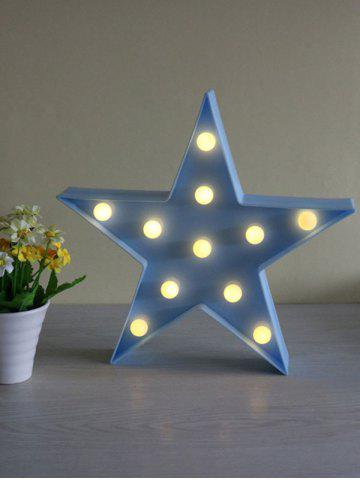 Affordable Cartoon Star Shape Home Decorative LED Night Light BLUE