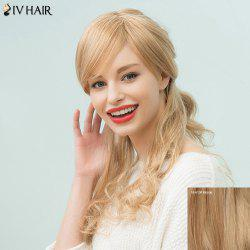 Siv Hair Long Wavy Side Bang Capless Human Hair Wig