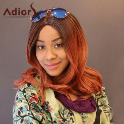 Adiors Long Slightly Curly Ombre Middle Part Synthetic Wig