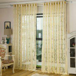 Europe Embroidery Tulle Fabric Sheer Window Curtain -
