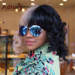 Adiors Medium Two Tone Insert Full Bang Curly Synthetic Cosplay Melanie Martinez Wig