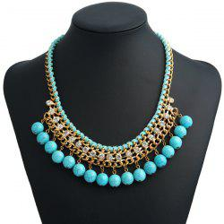 Bohemian Artificial Turquoise Beads Necklace -