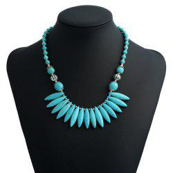 Artificial Turquoise Beaded Bohemian Necklace