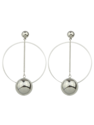 Alloy Circle Ball Earrings