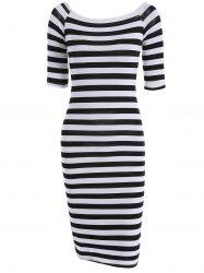 T-Shirt Striped Fitted Dress