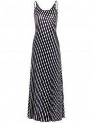 Backless Maxi Striped Dress