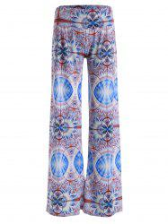 Abstract Print Wide Leg Palazzo Pants