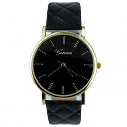 Minimalist Faux Leather Analog Wrist Watch