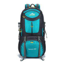 Waterproof 60L Mountaineering Backpack - LAKE BLUE