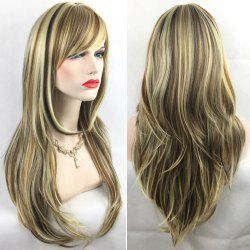 Adiors Long Slightly Curly Side Bang Party Synthetic Wig