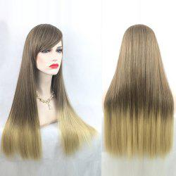 Adiors Long Straight Gradient Side Bang Party Synthetic Wig