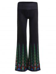 Print High Waist Wide Leg Pants