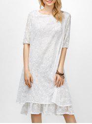 Daisy Floral Two-Layered Linen Midi Dress