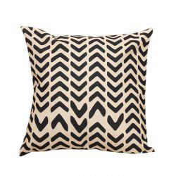 Letter V Sofa Decorative Linen Pillowcase