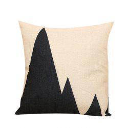 Mountains Print Decorative Linen Pillowcase
