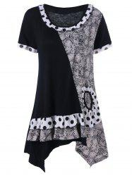 Plus Size Tribal Print Tunic Top