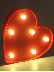Love Heart Shaped Confession Gift LED Night Light -