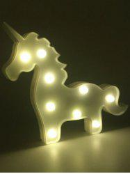 Unicorn Shaped Room Atmosphere LED Night Light - WHITE