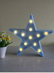 Cartoon Star Shape Home Decorative LED Night Light