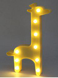 Giraffe Shaped Holiday Decoration LED Night Light