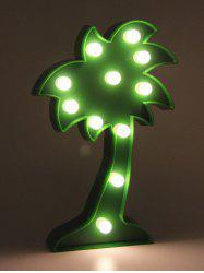 Table Decoration Coconut Tree Shaped LED Night Light