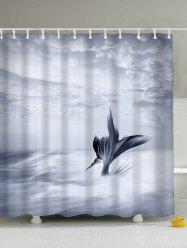 Fish Tail Eco-Friendly Polyester Shower Curtain
