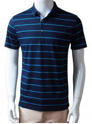 Stripes Half Buton Polo Shirt