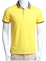 Half Button Short Sleeve Polo Shirt