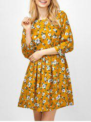 Floral Smock Going Out Swing Dress