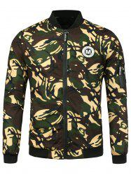 Patch Camo Jacket with Pocket Detail