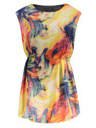 Tie Dye Mini Chiffon Dress - EARTHY
