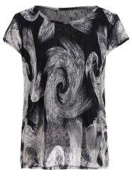 Plus Size Abstract Printed T-Shirt