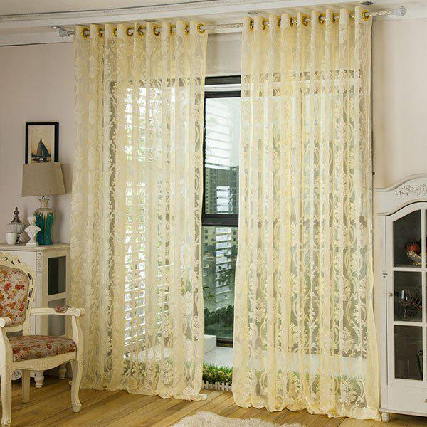 New Europe Embroidery Tulle Fabric Sheer Window Curtain