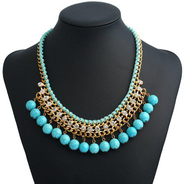 Outfit Bohemian Artificial Turquoise Beads Necklace
