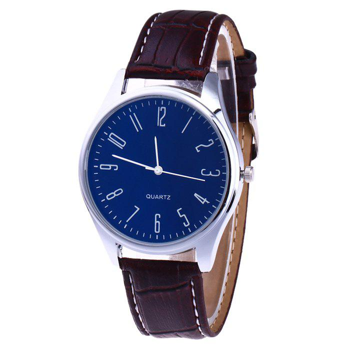 Sale Faux Leather Strap Analog Number Watch