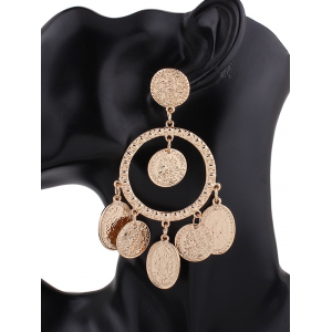 Hollow Out Plated Engraved Maxi Earrings