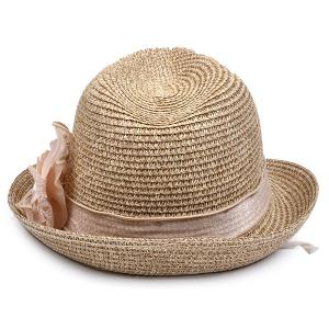 Lace Bowknot Band Straw Fedora Hat -