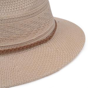 Breathable Braided Rope Straw Jazz Hat - OFF-WHITE