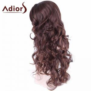 Adiors Long Wavy Middle Part Shaggy Synthetic Wig -